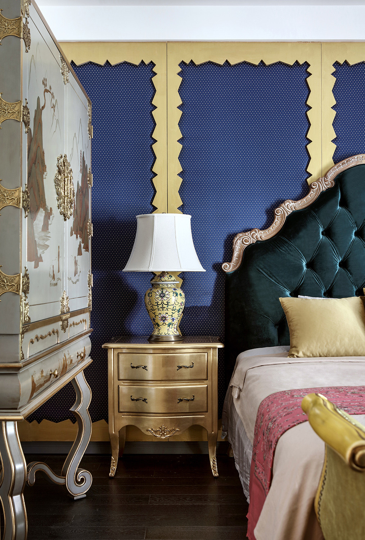 别墅混搭装修床头柜图片