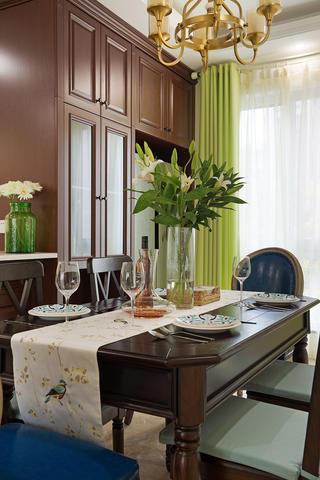 三居室美式风格家餐边柜图片