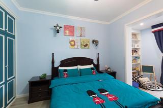 三居室美式风格家儿童房布置图