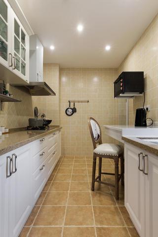三居室美式风格家厨房设计图