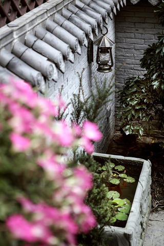 別墅混搭裝修花園一角