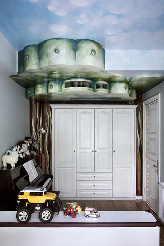 别墅混搭装修儿童房设计图