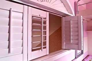 80㎡简约田园风装修儿童房窗户图片