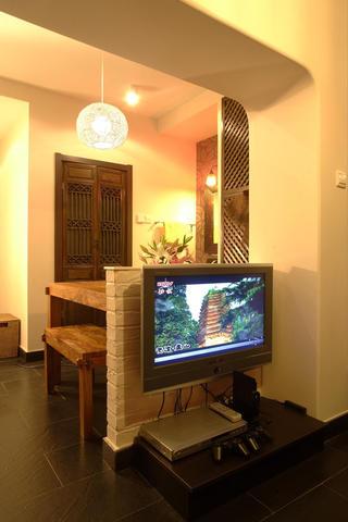 东南亚风格小户型装修电视墙设计