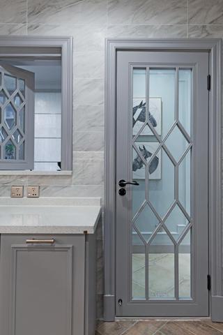 三居室美式风格家厨房玻璃门