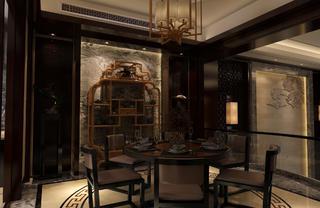 中式別墅裝修餐廳效果圖