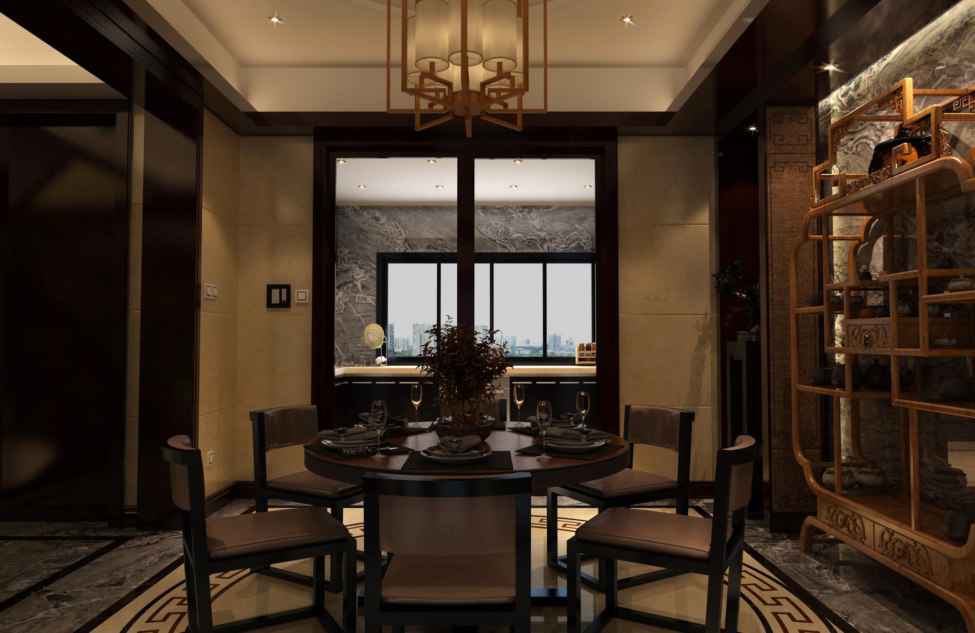 中式别墅装修餐桌图片