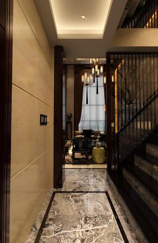 中式别墅装修玄关图片