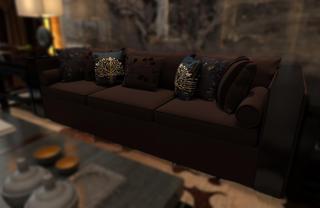 中式别墅装修沙发图片