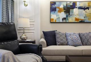 美式风格三居装修沙发一隅