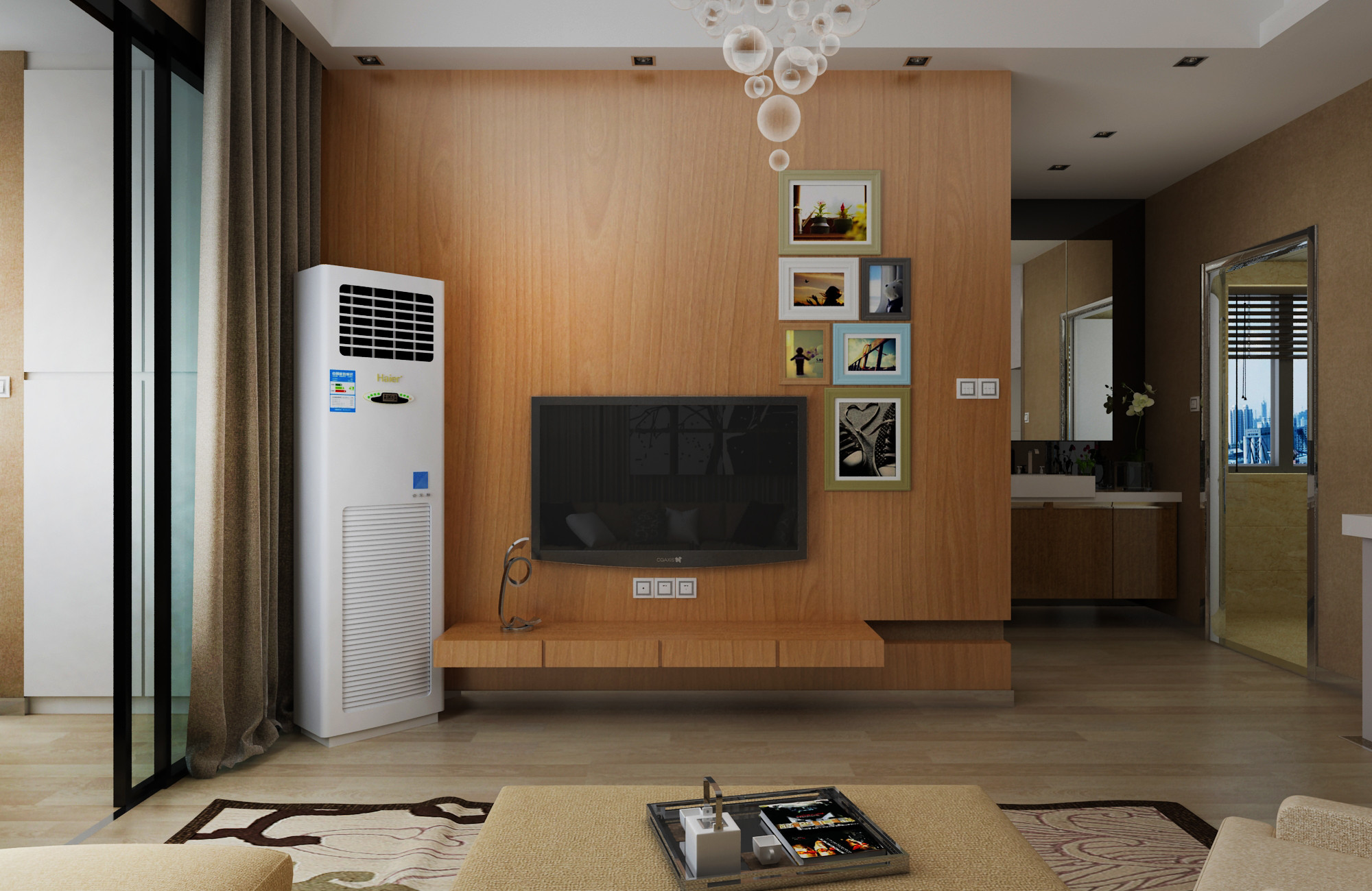 现代简约装修电视背景墙图片