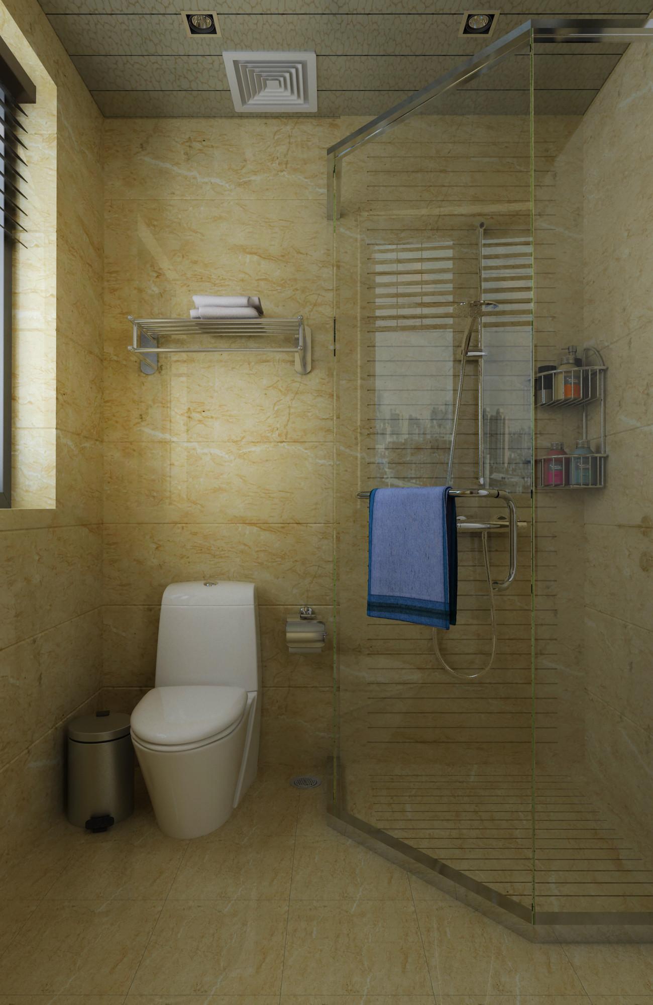 现代简约装修卫生间效果图