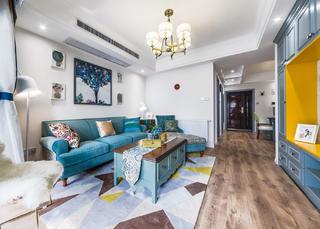 90平美式二居沙发背景墙图片