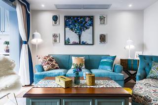 90平美式二居沙发图片