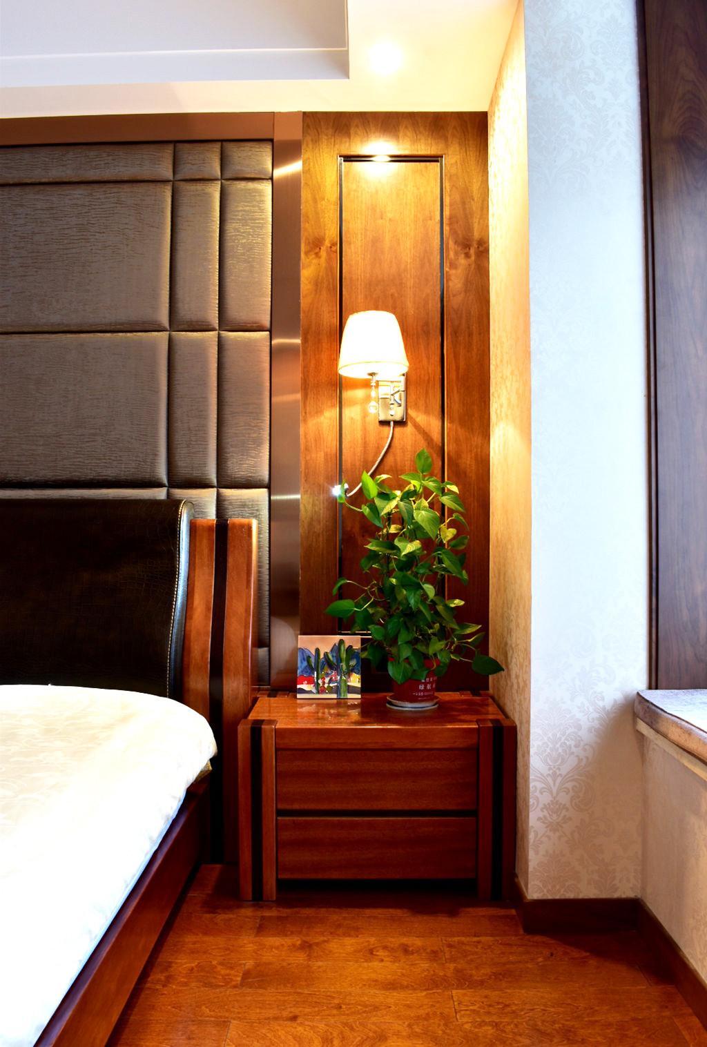160平米中式风格装修床头柜图片
