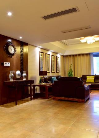 160平米中式风格装修沙发背景墙图片