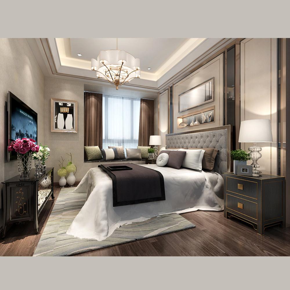 华丽欧式装修卧室效果图