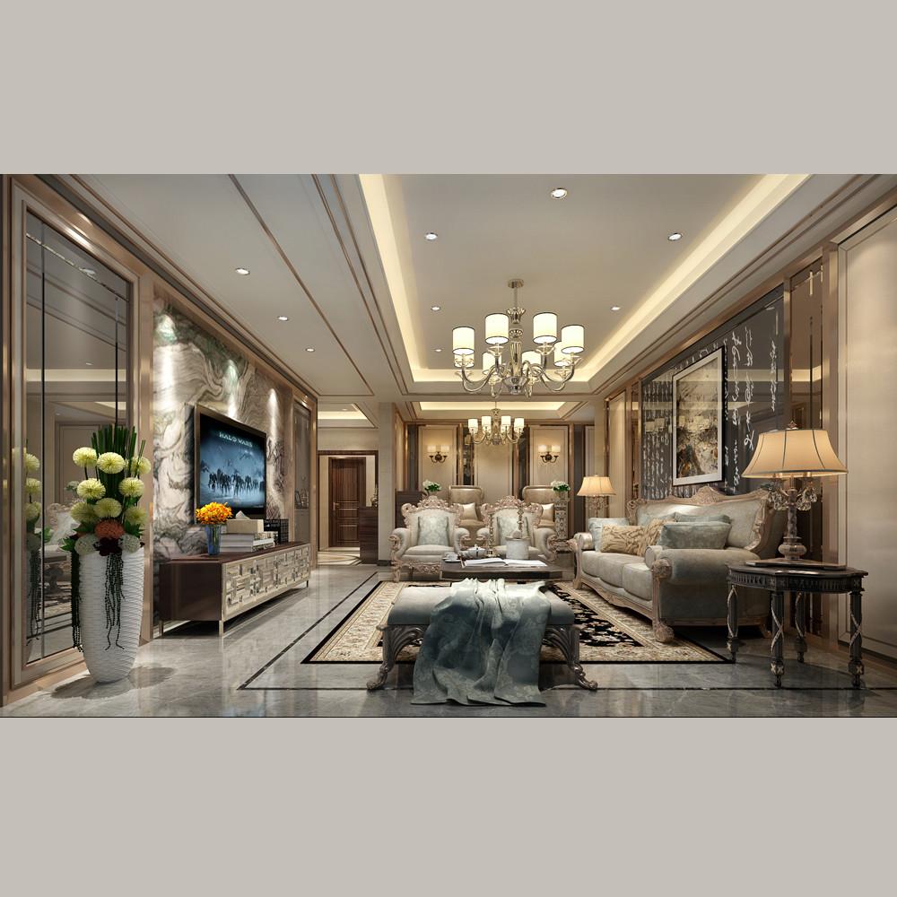 华丽欧式装修客厅效果图