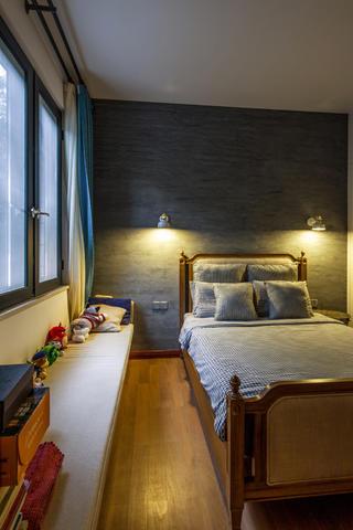 大户型中式风格装修床头背景墙图片