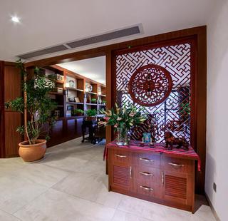 大户型中式风格装修玄关设计