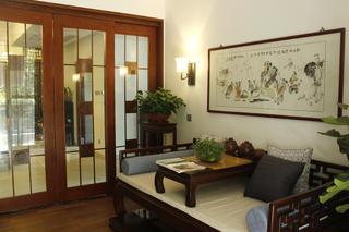 大户型中式风格装修书房欣赏图