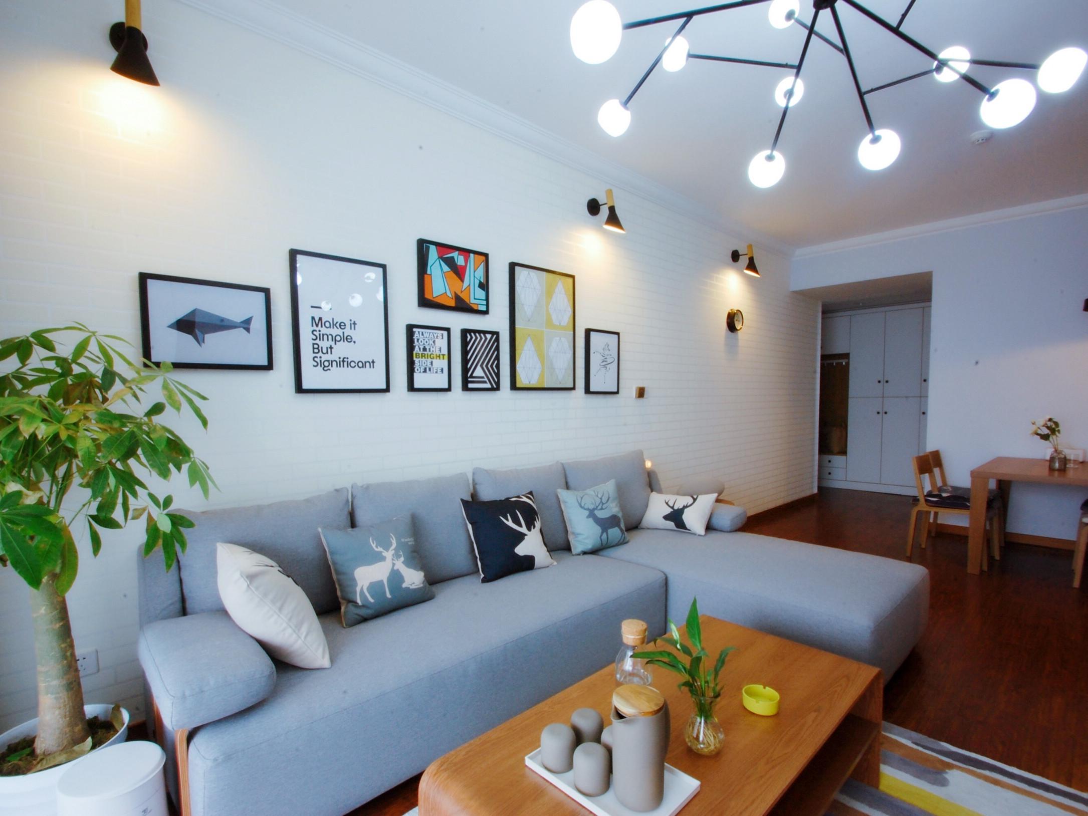 北欧二居室装修沙发墙图片