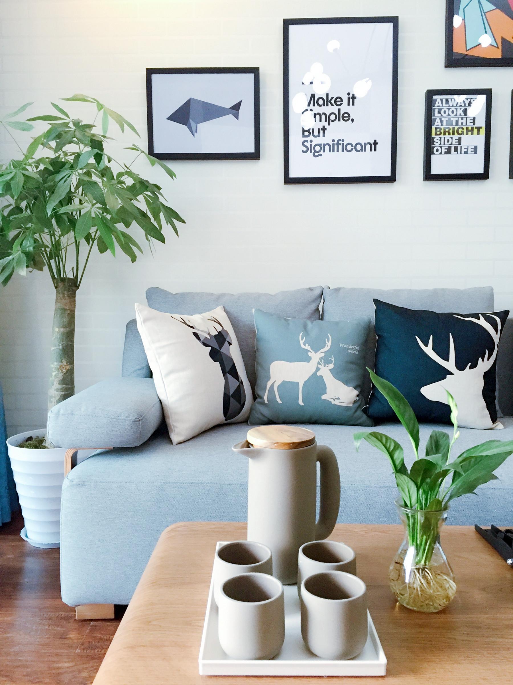 北欧二居室装修茶几图片