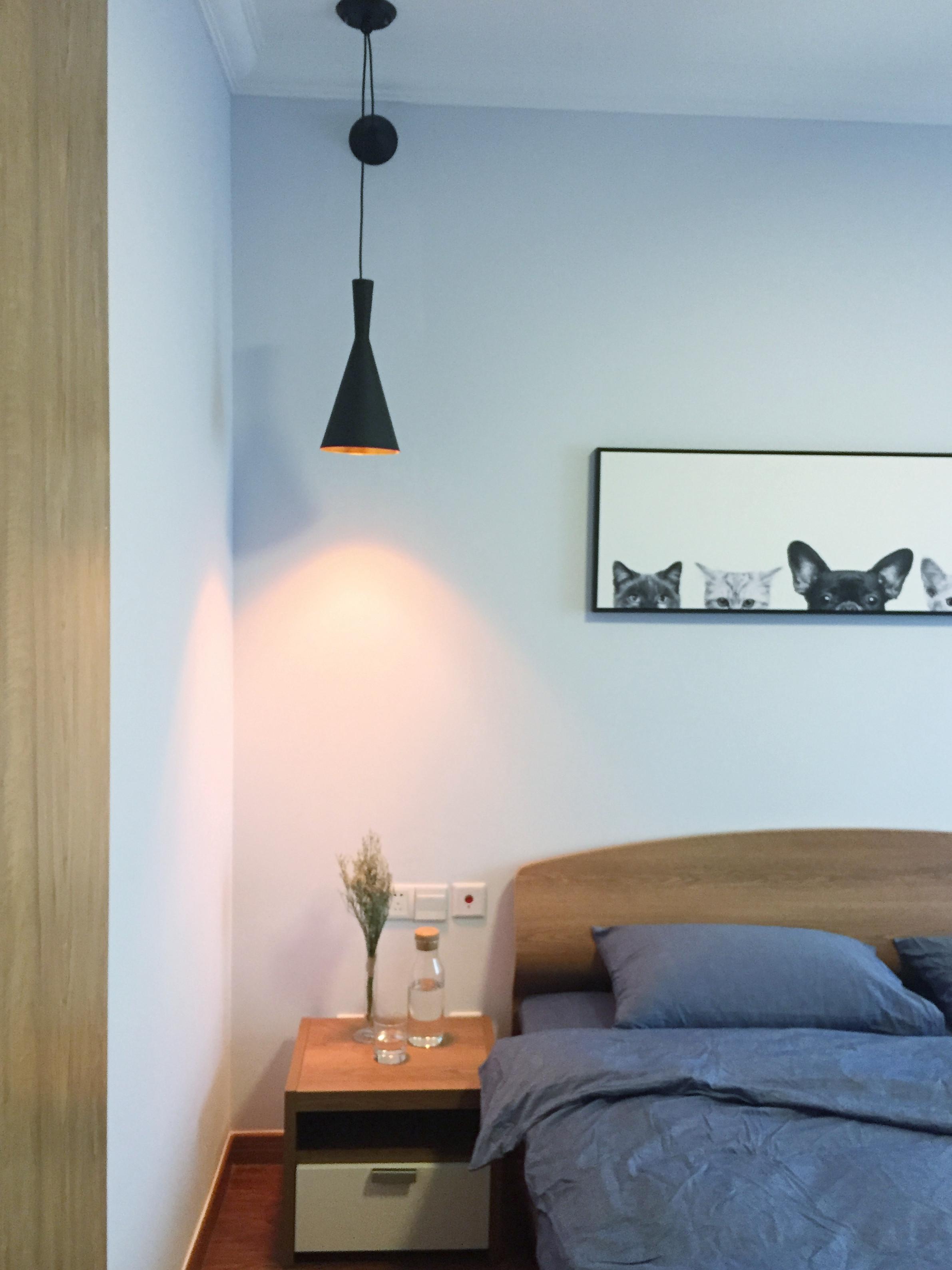 北欧二居室装修床头灯设计