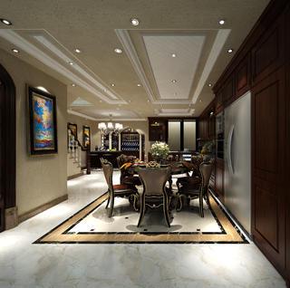 歐式別墅裝修餐廳設計圖