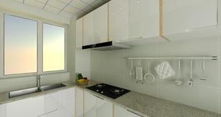 70平二居室装修厨房一角