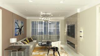 70平二居室装修客厅效果图