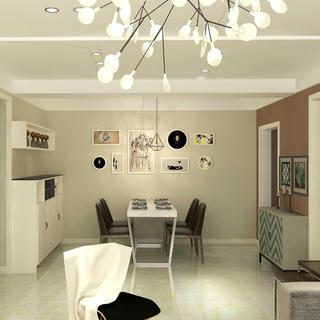 70平二居室装修 纯情现代