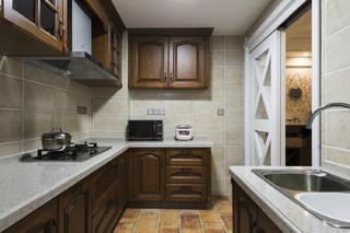 100㎡美式风装修厨房设计图