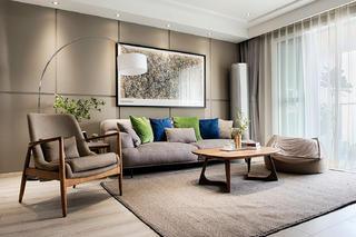 北欧混搭三居设计沙发图片