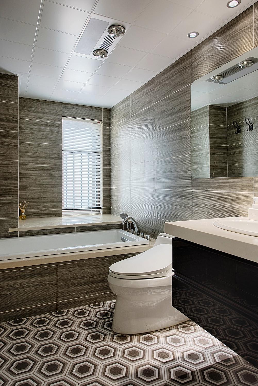 北欧混搭三居设计卫生间装潢图