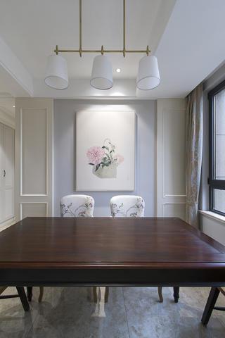 100平三居装修餐厅背景墙图片