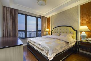 100平三居装修床头墙图片