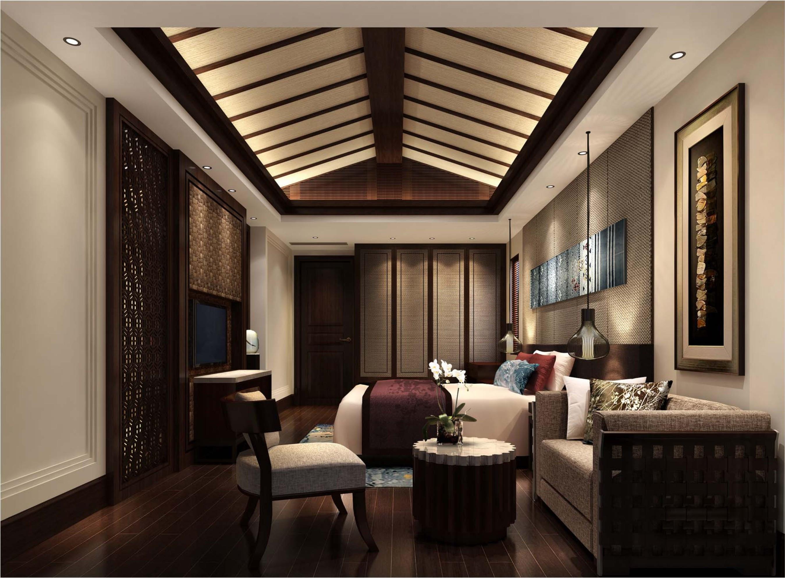 东南亚风格别墅装修次卧效果图