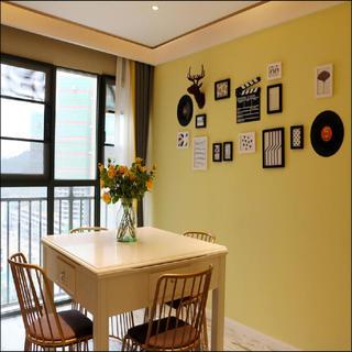 110平简约之家餐厅背景墙图片