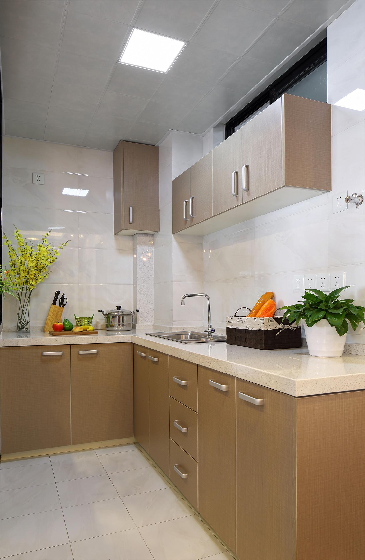 90平现代简约二居装修厨房效果图