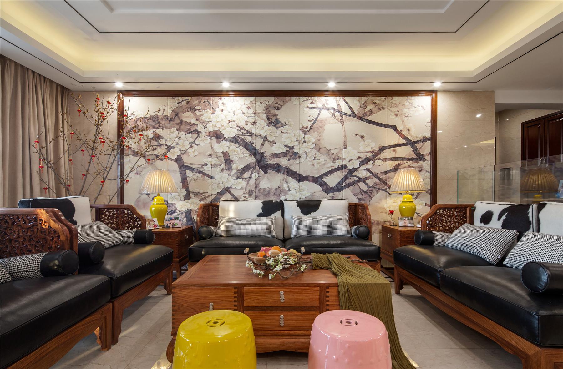 中式风格四房装修沙发图片