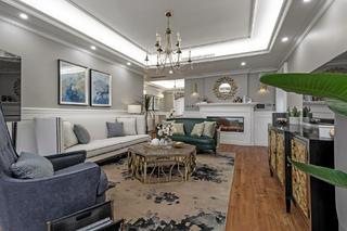180㎡美式装修沙发背景墙图片