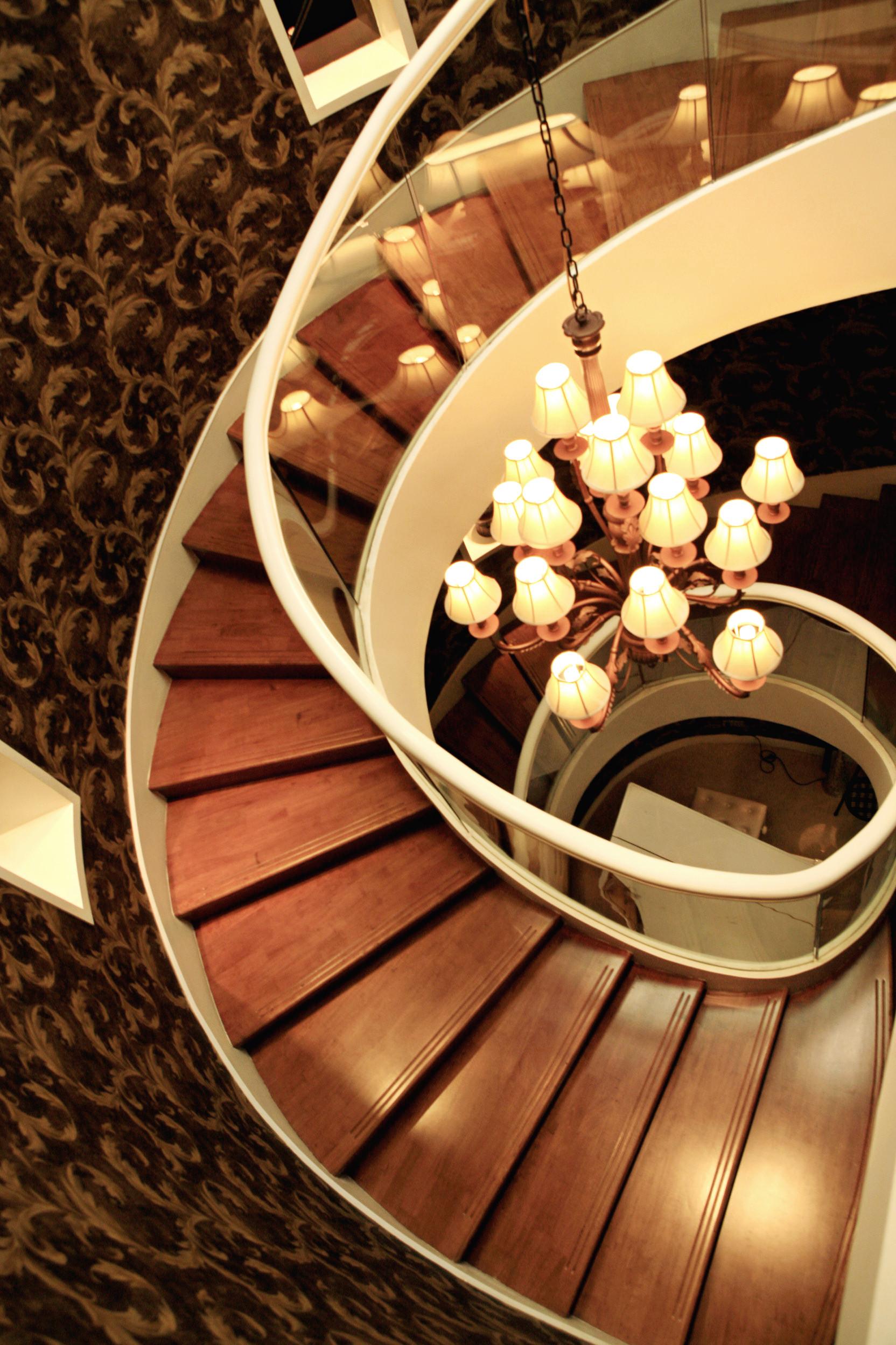 欧式别墅装修楼梯俯视图