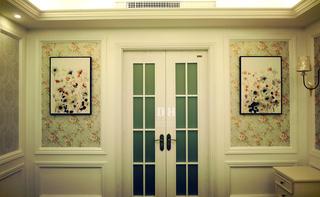 130平美式风格装修主卧更衣室门