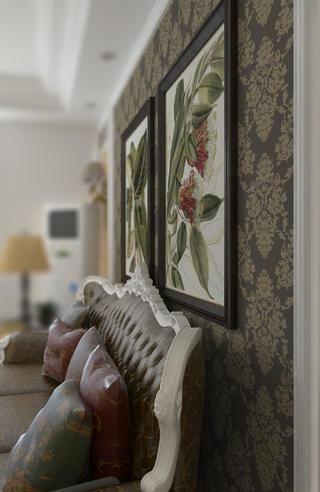 68平简欧装修沙发背景墙图片