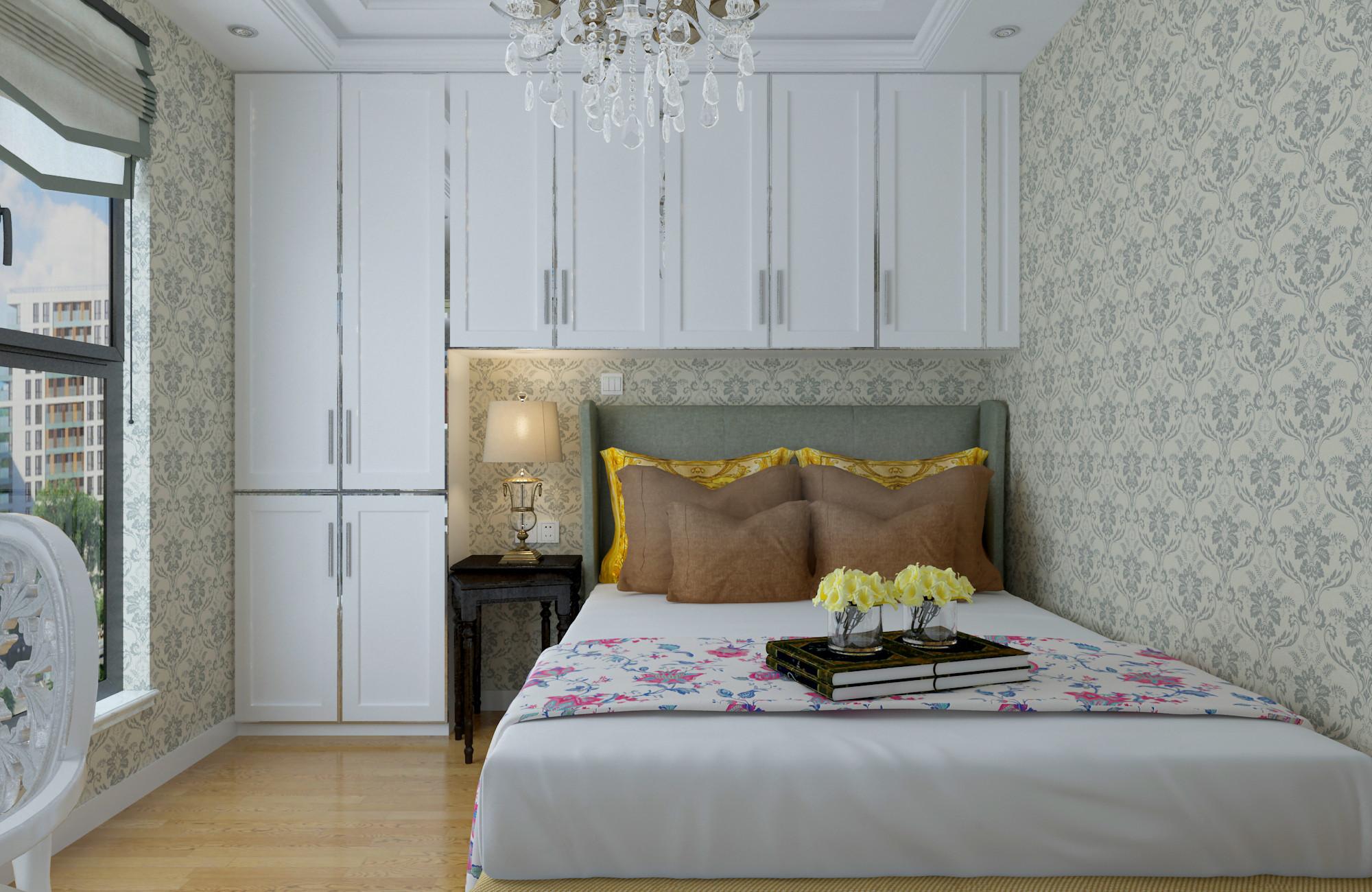 68平简欧装修嵌入式床设计