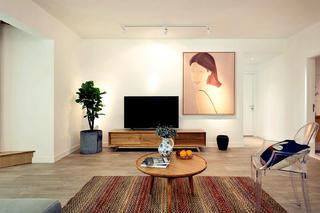 北欧风格三居室装修电视背景墙图片