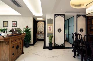 中式风格三居装修过道图片