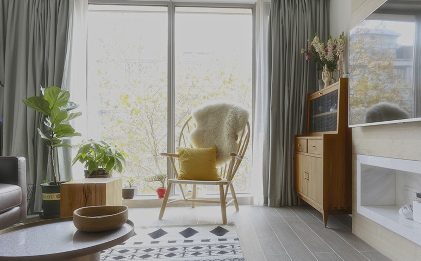 89平北欧风之家窗帘图片