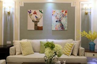 美式三居装修沙发图片